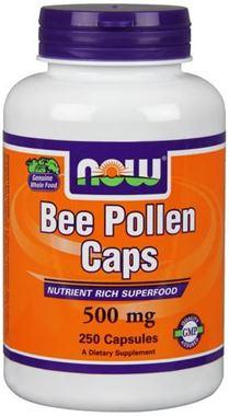 Picture of NOW Bee Pollen, 500 mg, 250 caps