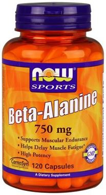 Picture of NOW Sports Beta Alanine, 750 mg, 120 vcaps