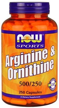 Picture of NOW Arginine & Ornithine, 500/250 mg, 250 caps