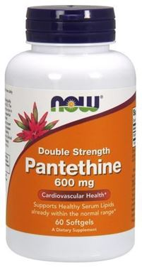 Picture of NOW Double Strength Pantethine, 600 mg, 60 softgels