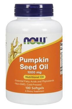 Picture of NOW Pumpkin Seed Oil, 100 softgels