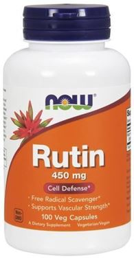 Picture of NOW Rutin, 100 vcaps