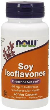 Picture of NOW Soy Isoflavones, 60 vcaps