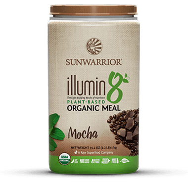 Picture of Sun Warrior Illumin8 Organic Meal, Mocha, 2.2 lb