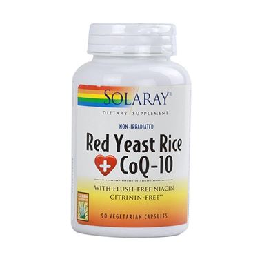Picture of Solaray Red Yeast Rice plus CoQ10, Non-Irradated, 90 vcaps