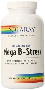 Picture of Solaray Mega B-Stress, Two-Stage Timed-Release, 240 vcaps