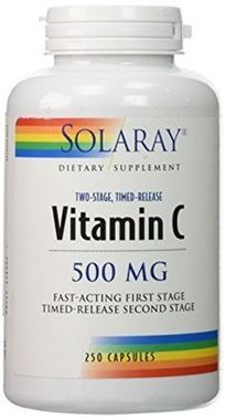 Picture of Solaray Vitamin C, Two-Stage Timed-Release, 500 mg, 250 caps