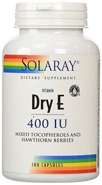 Picture of Solaray Dry Vitamin E with Hawthorn, 400 IU, 100 caps