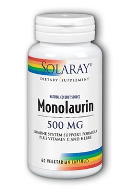 Picture of Solaray Monolaurin, 500 mg, 60 vcaps