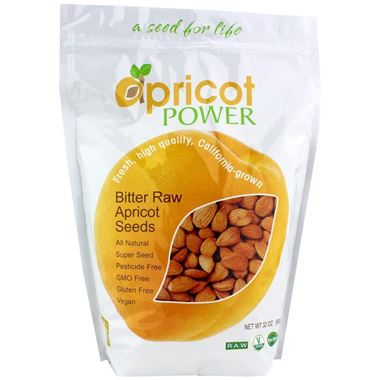 Picture of Apricot Power Bitter Raw Apricot Seeds, 32 oz