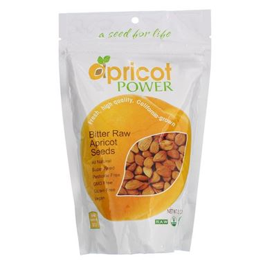 Picture of Apricot Power Bitter Raw Apricot Seeds, 8 oz