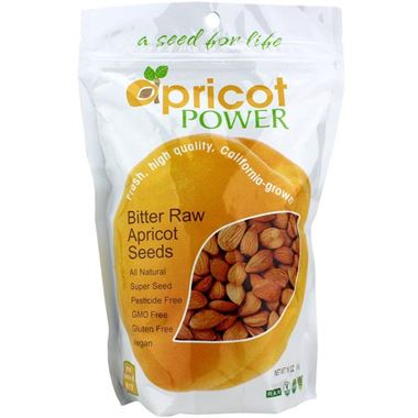 Picture of Apricot Power Bitter Raw Apricot Seeds, 16 oz