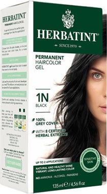 Picture of Herbatint Permanent Haircolor Gel, 1N Black, 4.56 fl oz