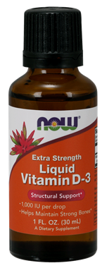 Picture of NOW Extra Strength Liquid Vitamin D-3, 1 fl oz