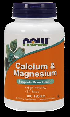 Picture of NOW Calcium & Magnesium, 100 tabs