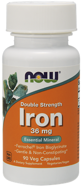 Picture of NOW Double Strength Iron, 90 vcaps