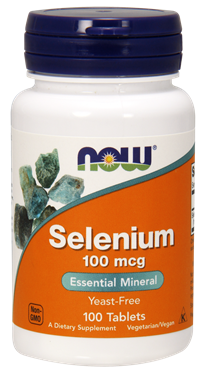 Picture of NOW Selenium, 100 mcg, 100 tabs