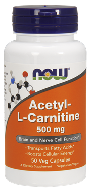 Picture of NOW Acetyl L-Carnitine, 500 mg, 50 vcaps