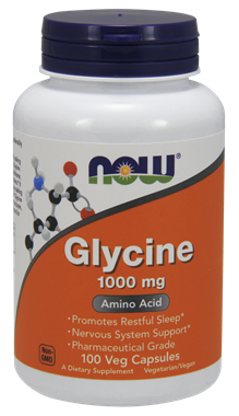 Picture of NOW Glycine, 1000 mg, 100 vcaps