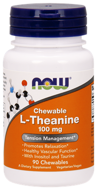 Picture of NOW Chewable L-Theanine, 90 chewables