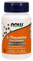 Picture of NOW L-Theanine Pure Powder, 1 oz