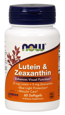 Picture of NOW Lutein & Zeaxanthin, 60 softgels