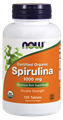 Picture of NOW Certified Organic Spirulina, 1000 mg, 120 tabs