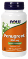 Picture of NOW Fenugreek, 500 mg, 100 vcaps