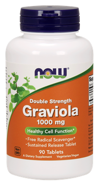 Picture of NOW Double Strength Graviola, 1000 mg, 90 tabs
