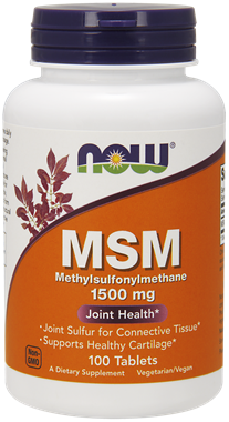 Picture of NOW MSM, 1,500 mg, 100 tabs