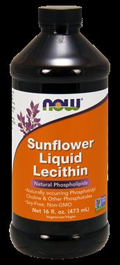 Picture of NOW Sunflower Liquid Lecithin, 16 fl oz