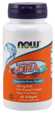 Picture of NOW Kids Chewable DHA, 60 softgels
