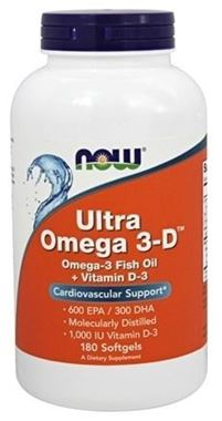 Picture of NOW Ultra Omega 3-D, 180 softgels
