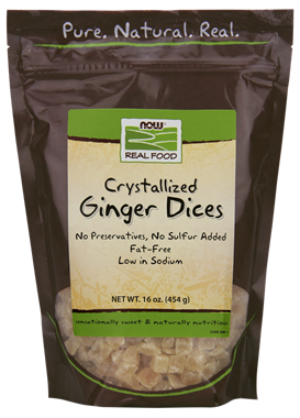 Picture of NOW Crystallized Ginger Dices, 16 oz