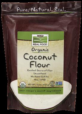 Picture of NOW Organic Coconut Flour, 16 oz