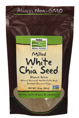 Picture of NOW Milled White Chia Seed, 10 oz