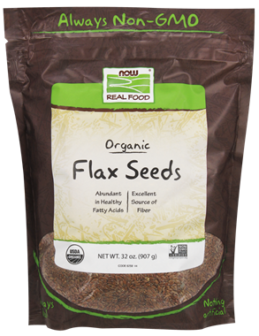 Picture of NOW Organic Flax Seeds, 32 oz