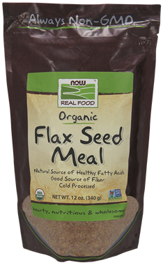 Picture of NOW Organic Flax Seed Meal, 12 oz