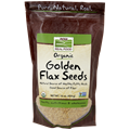 Picture of NOW Organic Golden Flax Seeds, 16 oz