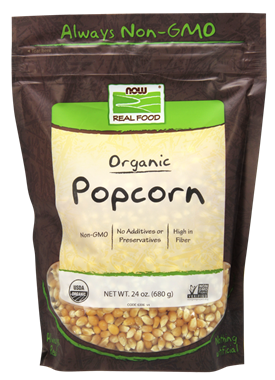 Picture of NOW Organic Popcorn, 24 oz