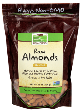 Picture of NOW Raw Almonds, 16 oz
