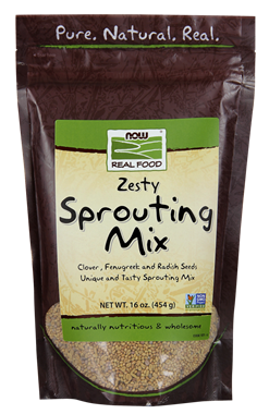 Picture of NOW Zesty Sprouting Mix, 16 oz