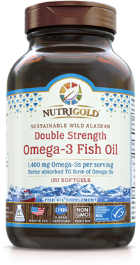 Picture of NutriGold Double Strength Omega-3 Fish Oil, 120 softgels