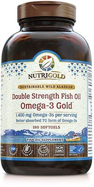 Picture of NutriGold Double Strength Omega-3 Fish Oil, 180 softgels