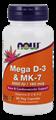 Picture of NOW Mega D-3 & MK-7, 60 vcaps