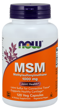 Picture of NOW MSM, 1000 mg, 120 vcaps