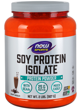 Picture of NOW Soy Protein Isolate Powder, Creamy Chocolate, 2 lbs