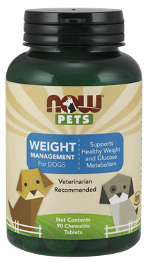 Picture of NOW Pets Weight Management For Dogs, 90 chewable tablets