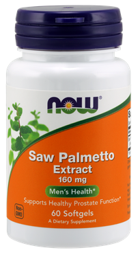 Picture of NOW Saw Palmetto Extract, 160 mg, 60 softgels