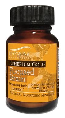 Picture of Harmonic Innerprizes Etherium Gold Focused Brain, 1 oz powder
